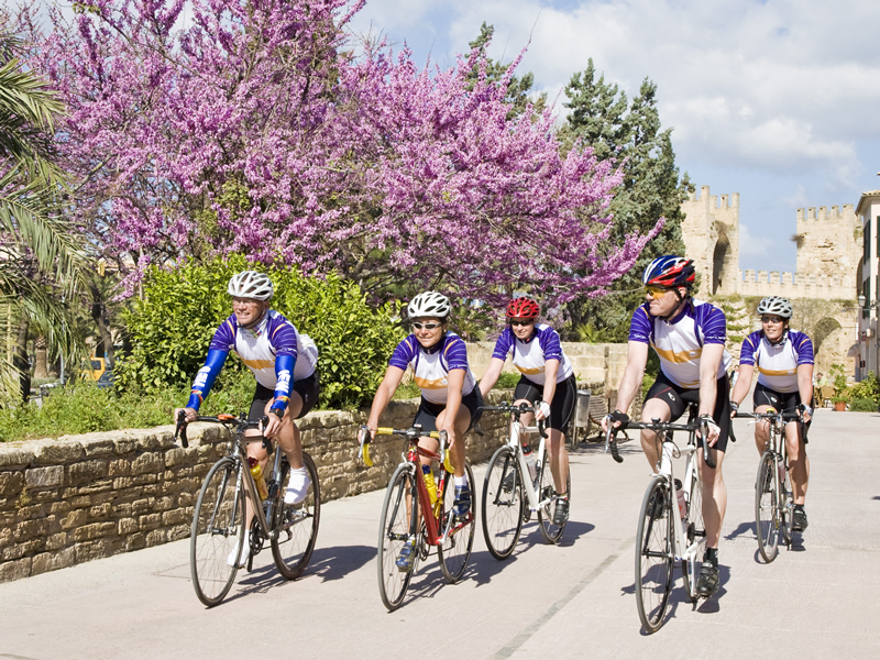 Cycling en Mallorca.